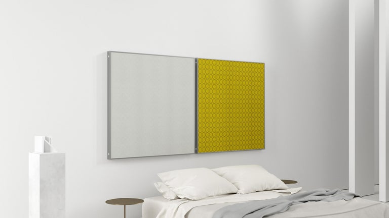 Contemporary Acustica, Opus 4, Noise Cancelling Acoustic Panel, Grey Frame For Sale