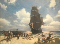 Aground, Nantucket's South Shore, 1873
