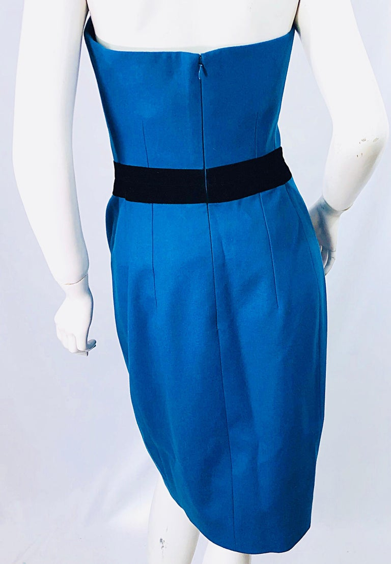 Ad Campaign Yves Saint Laurent YSL Fall / Winter 2008 Turquoise Blue Dress For Sale 6