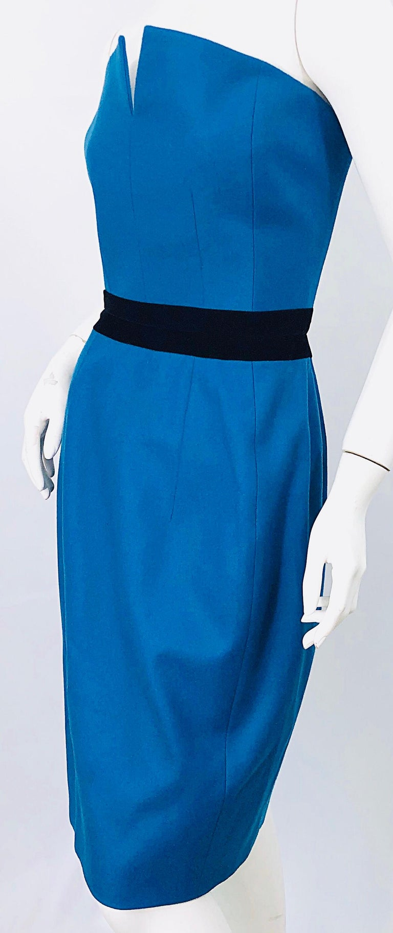 Women's Ad Campaign Yves Saint Laurent YSL Fall / Winter 2008 Turquoise Blue Dress For Sale