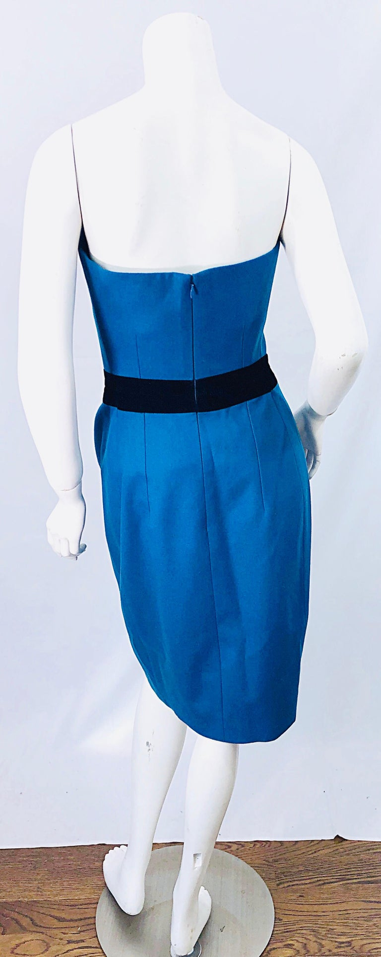 Ad Campaign Yves Saint Laurent YSL Fall / Winter 2008 Turquoise Blue Dress For Sale 2