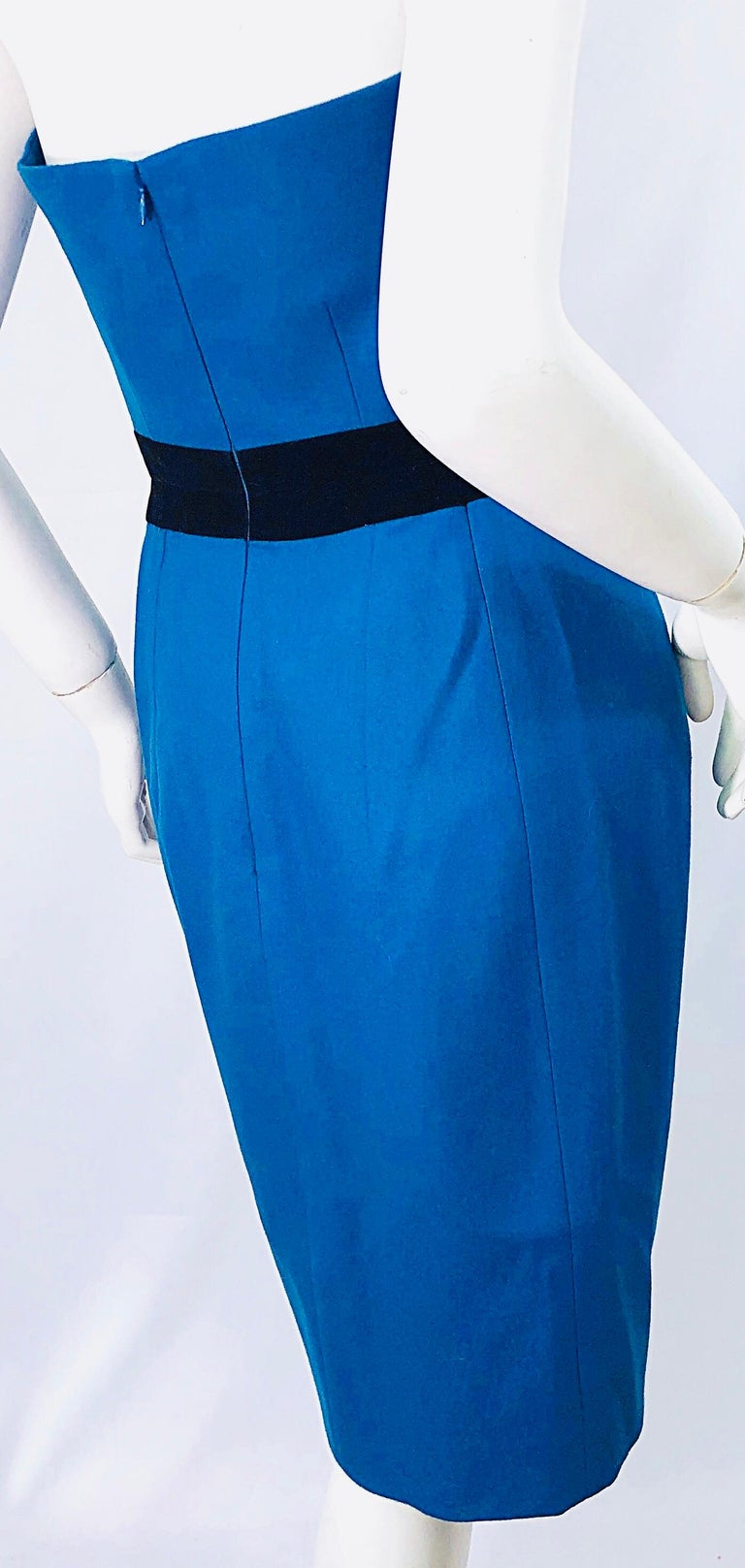 Ad Campaign Yves Saint Laurent YSL Fall / Winter 2008 Turquoise Blue Dress For Sale 4