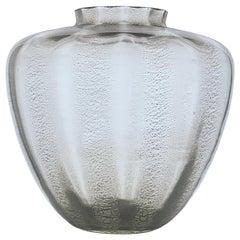 """A.D. Copier, Moldblown """"Sonoor"""" Vase with Cracquelé Technique, Leerdam"""