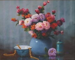 Floral Still-life with Beaded Necklace
