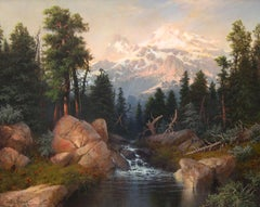 """""""Mountain View"""", A.D. Greer, Original Oil on Canvas, 24x30 in., Landscape"""