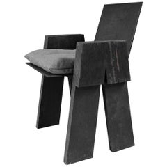 AD Sculpted Chair, Sculpted Iroko Wood, Arno Declercq
