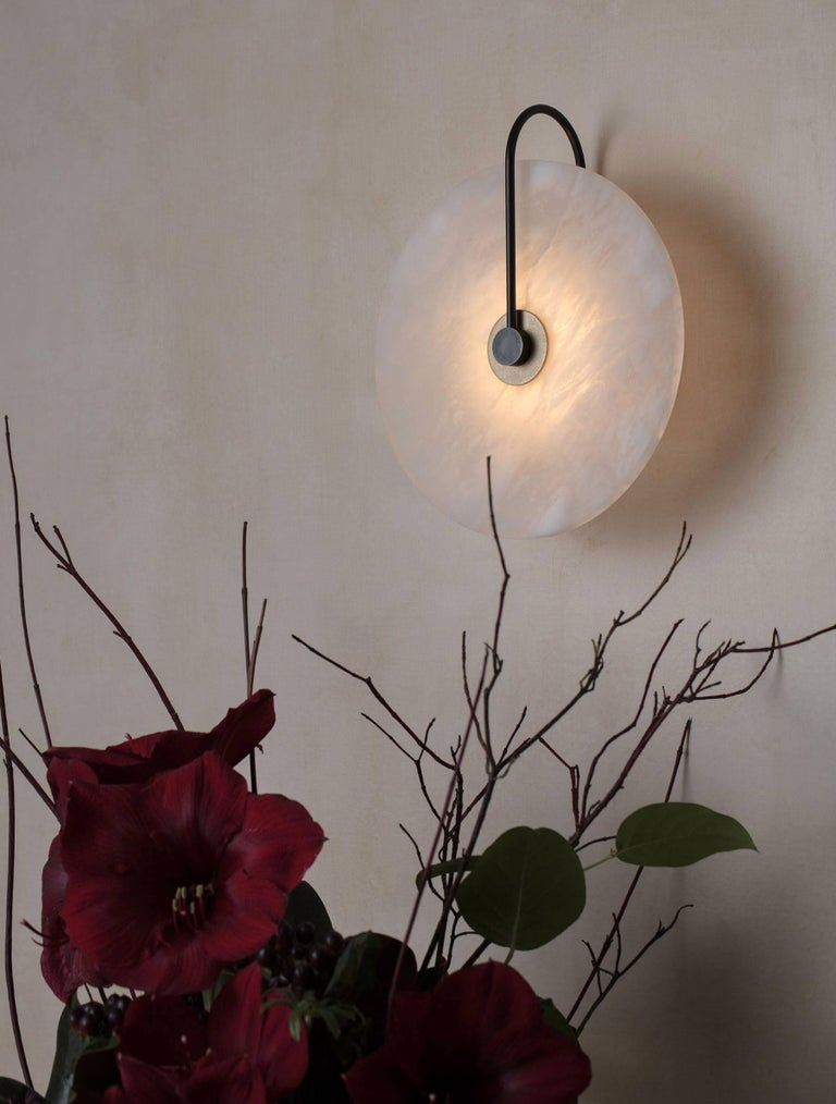 Contemporary ADA Alabaster Sconce For Sale