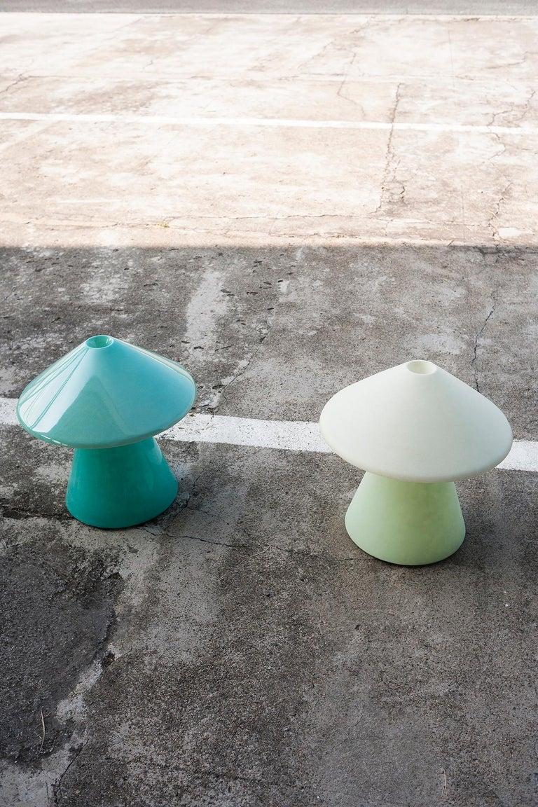 Italian A.D.A Lamp D in Matte Fiberglass by Umberto Riva For Sale
