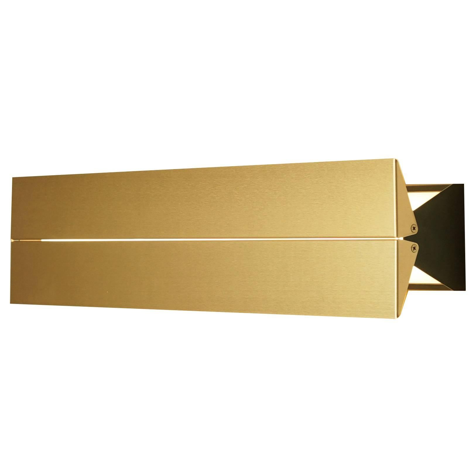 Outdoor Rated Ada Sconce 25 Black & Brass by Brendan Ravenhill