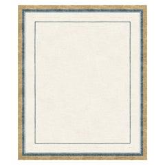 Adagio, Classic Beige Hand-Knotted Wool Blend-Silk Rug