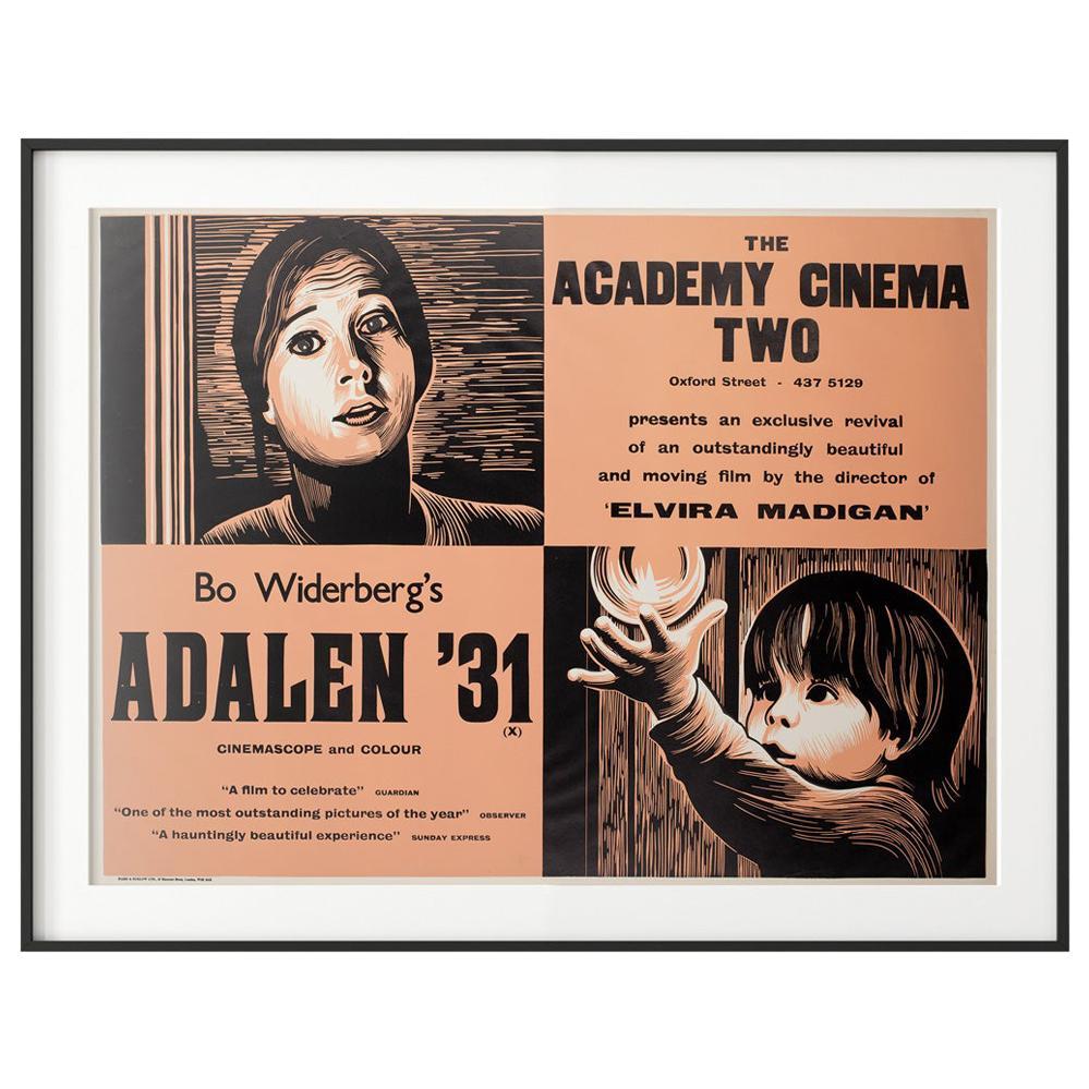Adalen '31 1970s Academy Cinema London UK Quad Film Poster, Strausfeld