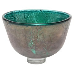 Adam Aaronson Modern English Art Glass Bowl