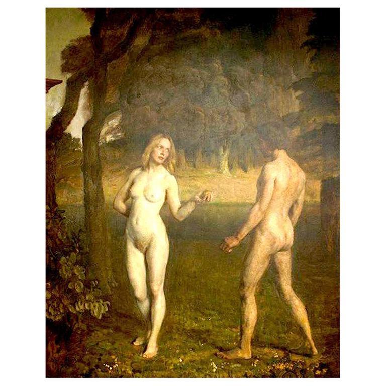 Adam and Eve Painting by Julius Paulsen