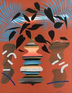 Adam Bartlett, Orange Summer, Contemporary Still Life Painting, Affordable Art