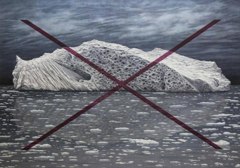 <i>Iceberg Quinacridone X</i>, 2017, by Adam Benjamin Fung