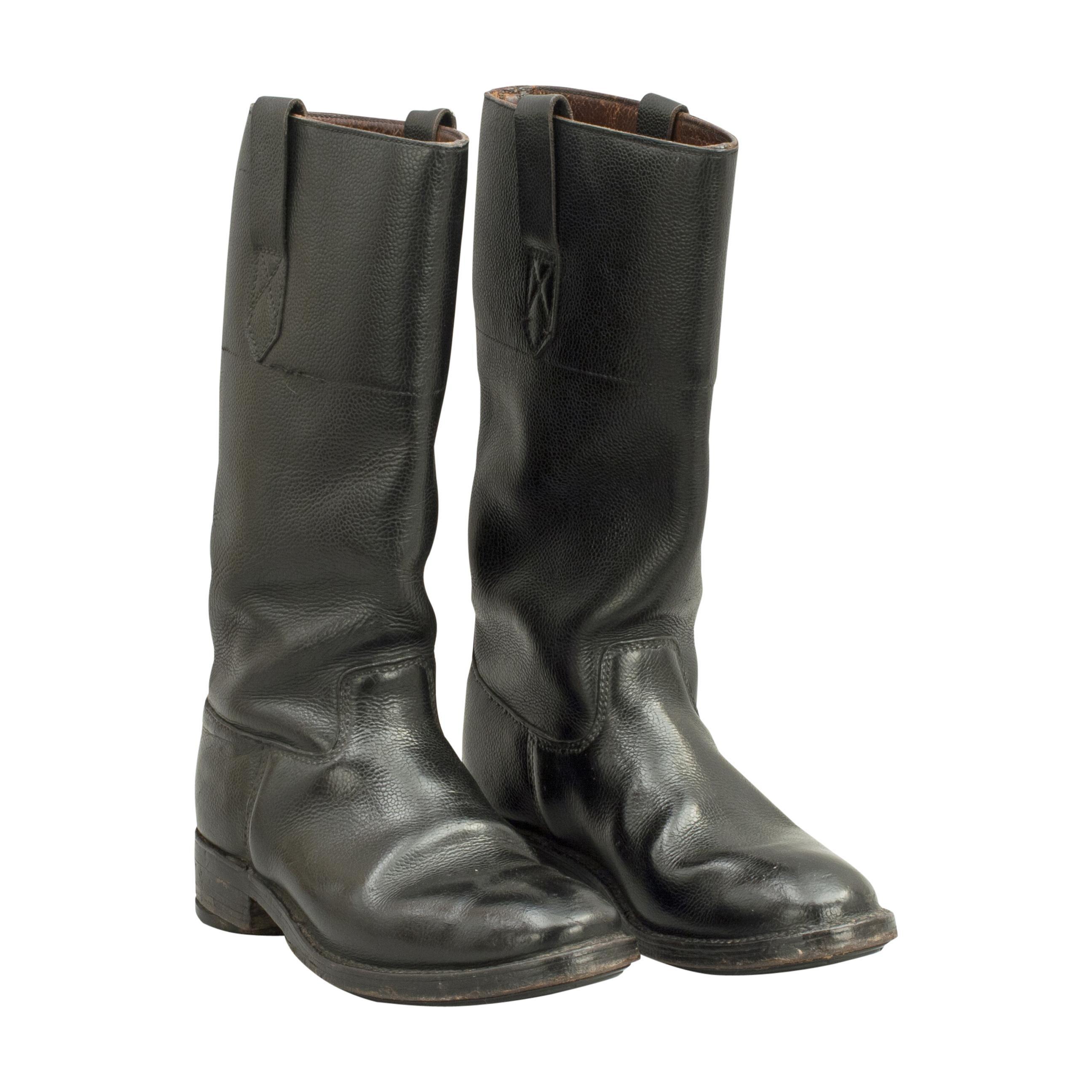 Adam Bros. Ltd. Leather Motorcycle Boots