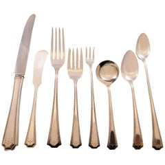 Adam by National Sterling Silver Flatware Set for 12 Service 102 Pieces Dinner