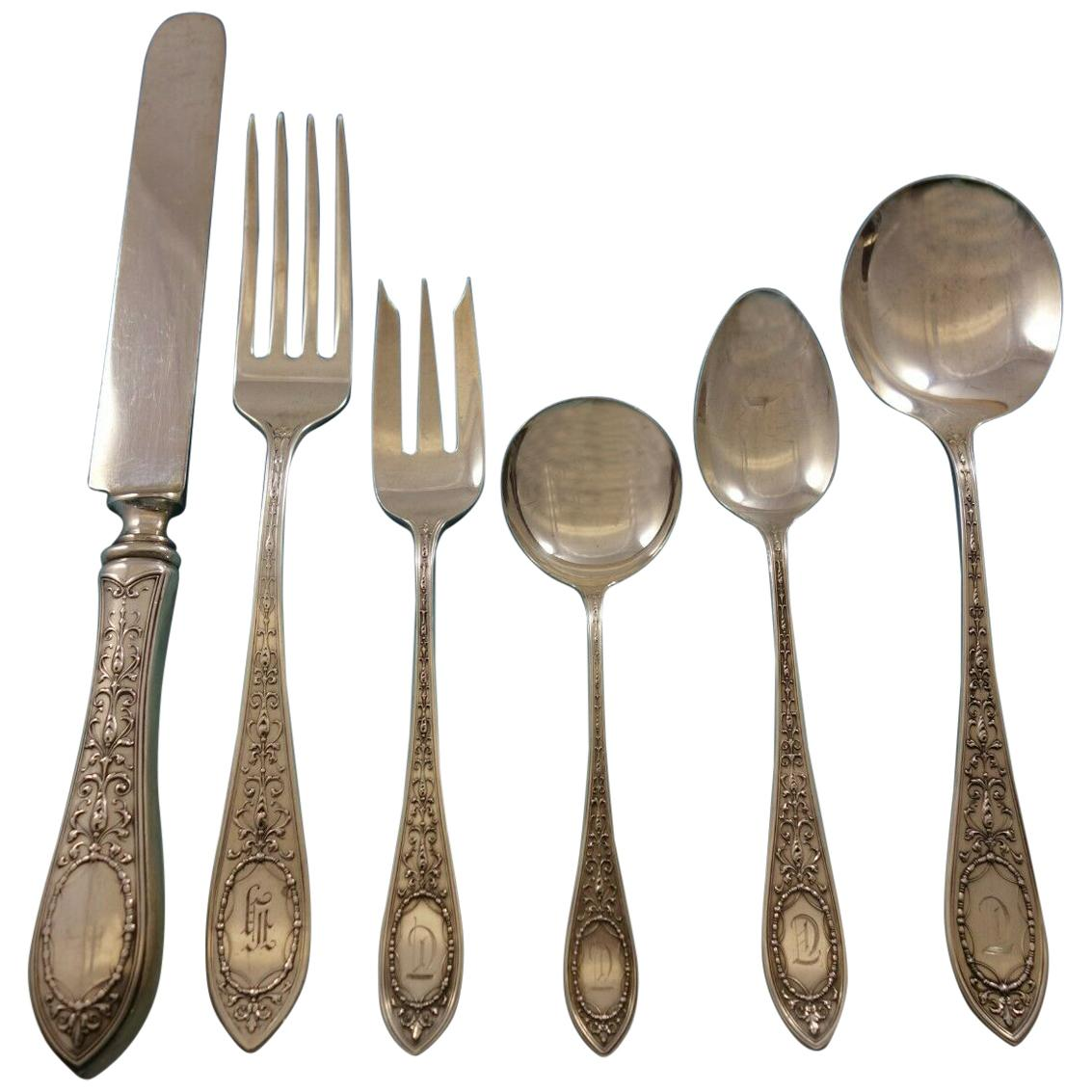 Adam by Whiting Sterling Silver Flatware Set for 12 Service 72 Pieces Dinner