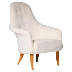 'Adam' Chair by Kerstin Horlin-Holmquist in Off-White Bouclé