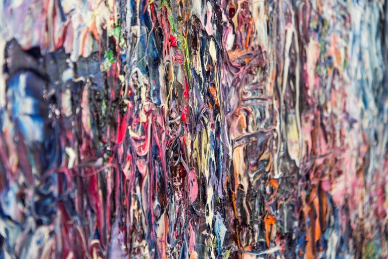 Air Prism - colourful, impasto, abstract expressionist, acrylic on canvas - Contemporary Painting by Adam Cohen