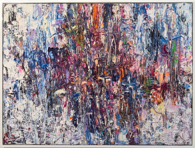 Adam Cohen Abstract Painting - Air Prism - colourful, impasto, abstract expressionist, acrylic on canvas