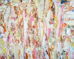 Changing Seasons - bright, impasto, abstract expressionist, acrylic on canvas