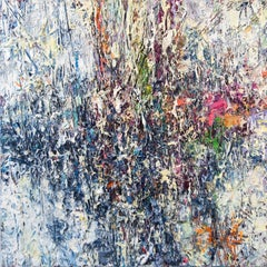 Opalescence - colourful, impasto, abstract expressionist, acrylic on canvas