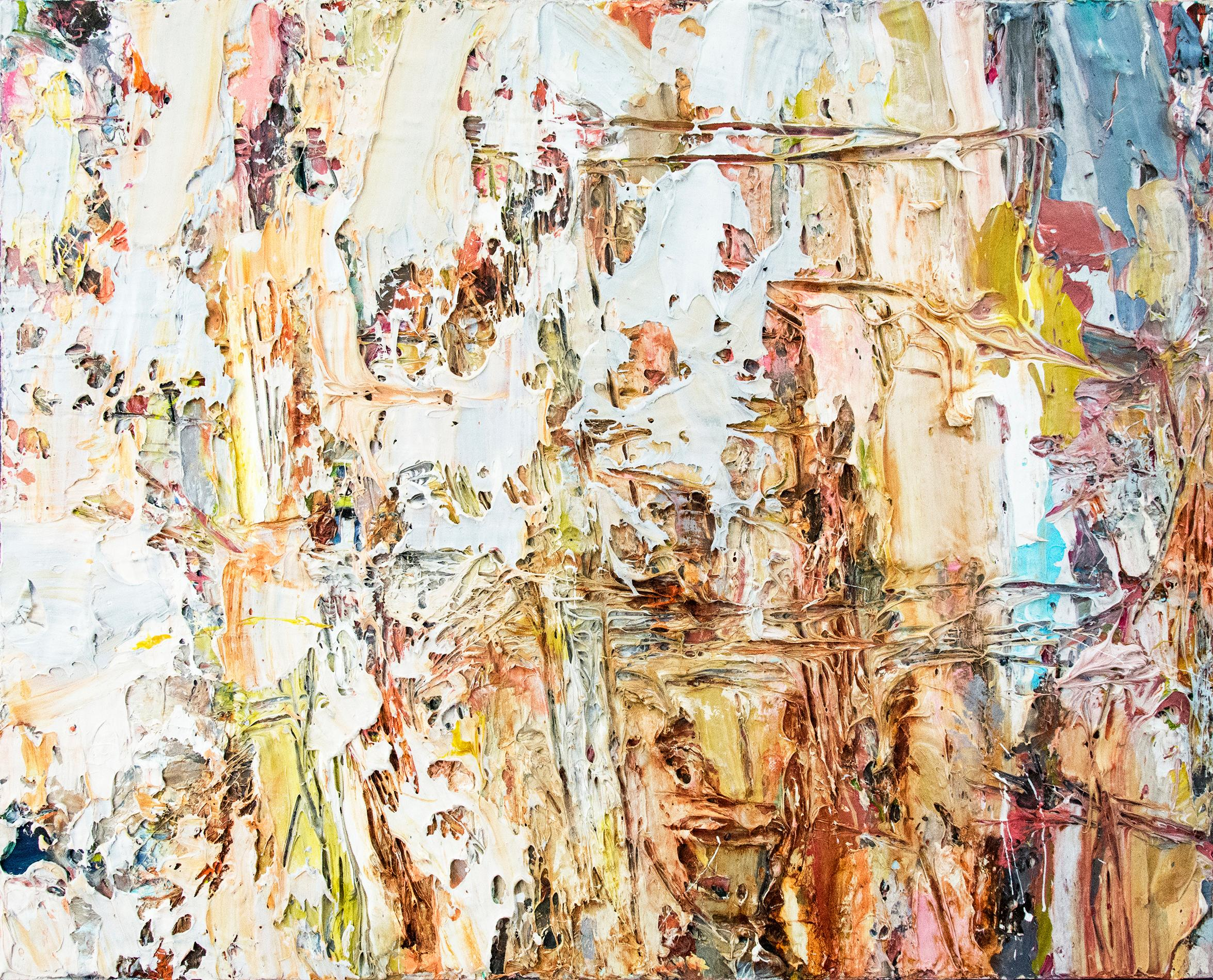 Sirocco - earthy, impasto, colourful, abstract expressionist, acrylic on canvas