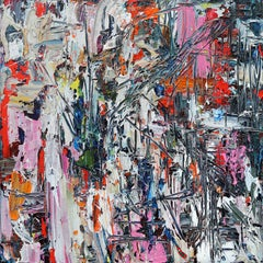 STRUCTURE DISRUPTED - bold and colorful abstract painting