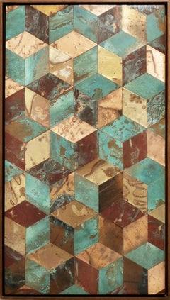 Rethink (series), Mixed Media on Wood Panel