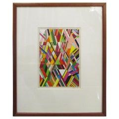 Adam Dahlstrom Untitled 'Triangles' Mixed-Media