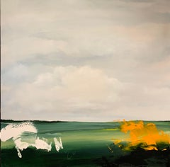 Field Sails of Sheppy - Figurative / Abstract Landscape: Oil paint on Canvas