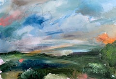 Shame there isn't a Cornershop to buy some Pop in it - landscape oil painting