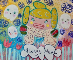 Adam Handler painting 'Little Fighter Girl Is Always Here With You'