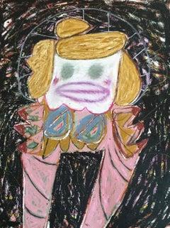 Italian Prayer, oil stick and acrylic on canvas, 2017