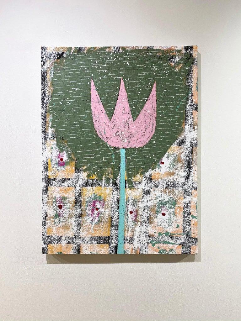 Last Wood Tulip - Contemporary Mixed Media Art by Adam Handler