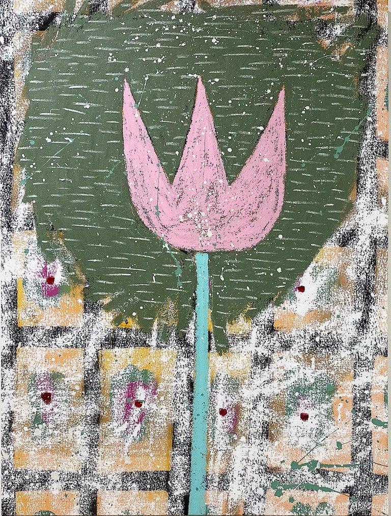 Last Wood Tulip - Mixed Media Art by Adam Handler