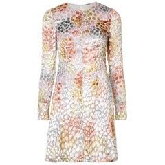 Adam Lippes Burnout Velvet Mini Dress