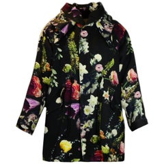 Adam Lippes Floral Hooded Parka with Detachable Lining sz XS rt $2,800