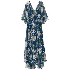 Adam Lippes Floral-Print Silk-Chiffon Maxi Dress