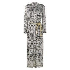 Adam Lippes Long Leopard-Print Shirt Dress