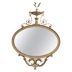 Adam Period Giltwood Mirror