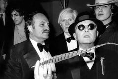 Andy Warhol and Truman Capote at Studio 54 Fine Art Print