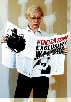 Andy Warhol Reading Newspaper II Fine Art Print