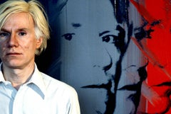 Andy Warhol with Colorful Art Fine Art Print