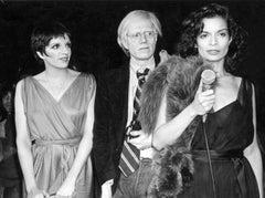 Bianca Jagger, Andy Warhol, and Liza Minelli at Studio 54 Fine Art Print