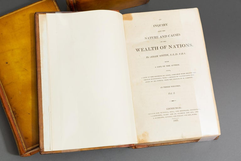 Early 19th Century Adam Smith, Wealth of Nations For Sale