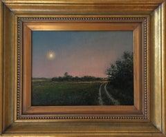 Moonrise: Long Island Country Road