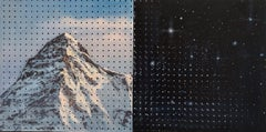THE BIG MOUNTAIN COSMIC PEGBOARD PAINTING