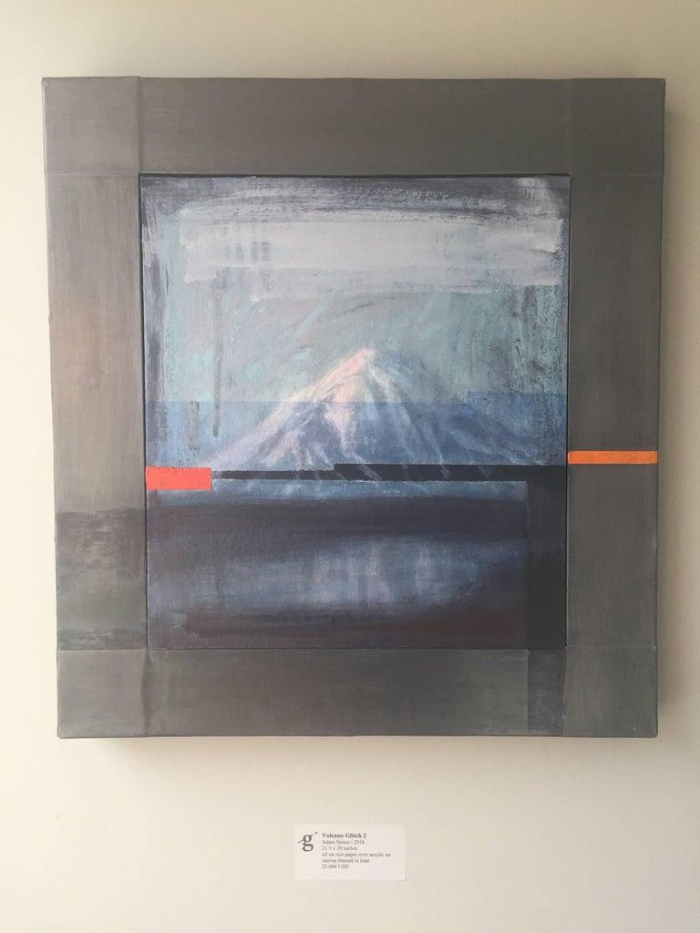 Volcano Glitch 2 - Painting by Adam Straus